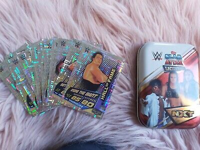 Wwe topps slam Attax Universe Mini-tin and Full set of Hall of Fame foils!