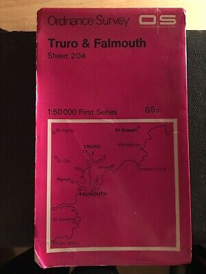 Vintage Ordinance Survey Map Truro And Falmouth