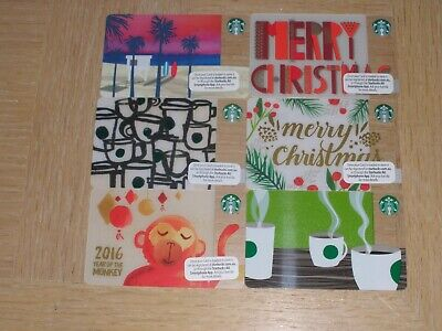 Starbucks Australia   6 different new collectible gift cards