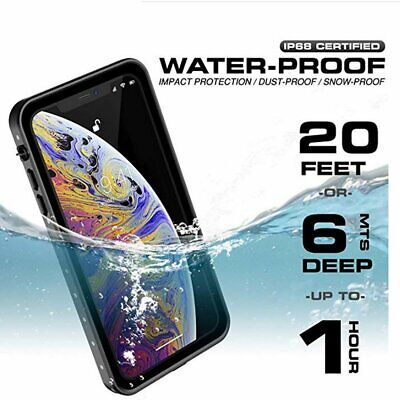 For Apple iPhone XS XR X Max 7 8 Plus Waterproof Case Cover with Built-in Screen