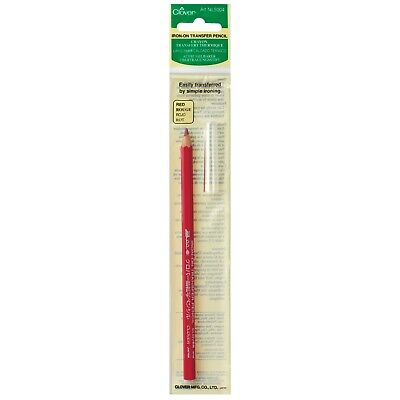 Clover Red Colour Iron-On Transfer Pencil – Crafts Fabric Marker Sewing Cl5004