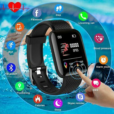 "116plus Smart Watch Wristband 1.3 ""Touch Screen Fitness Orologio"