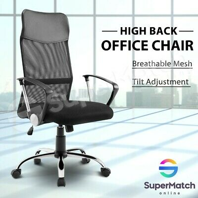 Breathable Mesh Office Chair Executive High Back Computer Chair Armchair Black
