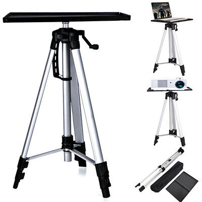 52-140cm Aluminium Projector Tripod Stand For Laptop With Tray Height Adjustable