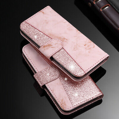 For iPhone 8 Plus 7 6s XS MAX XR FLip Magnetic Wallet Glitter Leather Case Cover