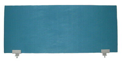 Office Desk Partition / Divider Teal with Grey Clamps1200mm x 500mm x 30mm - NEW