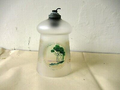 Vintage Frosted Glass Hanging Lamp Shade Scenery Hand Painted Lighting Decorat*F