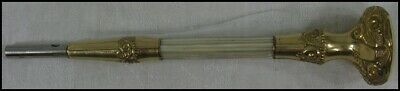 Antique Victorian K&H Gold Plated w MOP Mother of Pearl Umbrella Parasol Handle