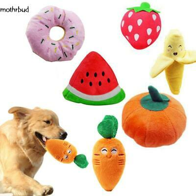 Pet Dog Cat Toy Funny Puppy Chew Squeaker Squeaky Plush Fruit Play Sound Toys CA