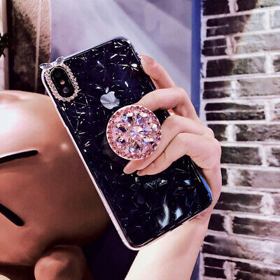Diamond Case Pop Up Holder For Huawei P30 Pro P Smart 2019 View 20 Y9 2019 Y7