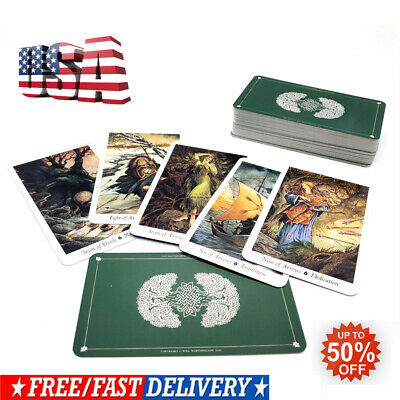 78Pcs/Set Cards Wild Wood Tarot Cards Beginner Deck Vintage Fortune Telling US