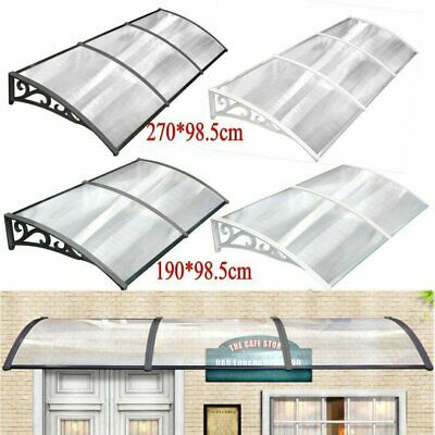 Outdoor Door Canopy Roof Cover Rain Awning Shelter Window Patio Front Back Porch