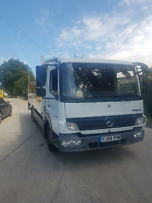 Mercedes Atege 816, 2008 23ft Drop side truck with tail lift