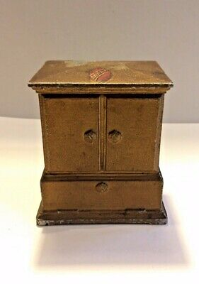 AWA Radio Radiola Metal Desk Cigarette Box Valve Tube Vintage Art Deco Rare