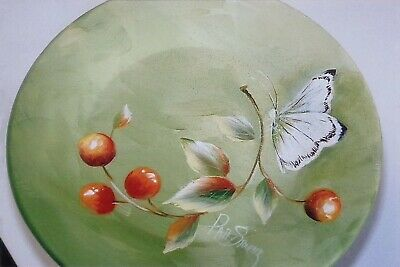 """Patty Stouffer tole painting pattern """"Butterfly with Cherries"""""""