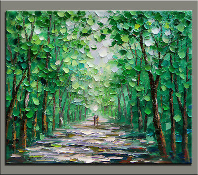 Modern Home Decor Wall On Canvas Abstract HandPainted Landscape 3D Oil Painting