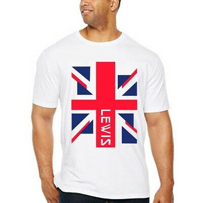 Lewis Hamilton UK F1 Racing Tshirt Cotton T-Shirt For Men's Tee Size S to 3XL