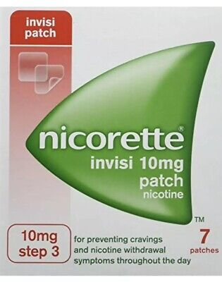 Nicorette Invisi Patch 10MG Step 3 x 7 Patches Best Before 01/2019