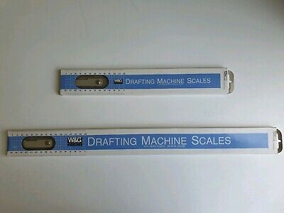 W&G Drafting Scales for Mutoh Drafting machine - As New condition! Made in Japan