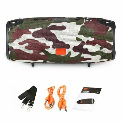 40w Portable Wireless Bluetooth Speaker Waterproof Stereo Bass AUX MP3 Camouflag