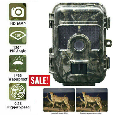 16MP Trail Camera IP66 Waterproof Outdoor Hunting Cam with IR Led Night Vision x