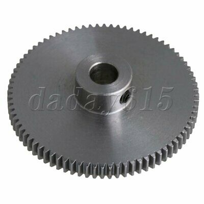 Sliver 80T Steel Motor Spur Pinion Gear  0.5M Module for 6mm Shaft DIY Project
