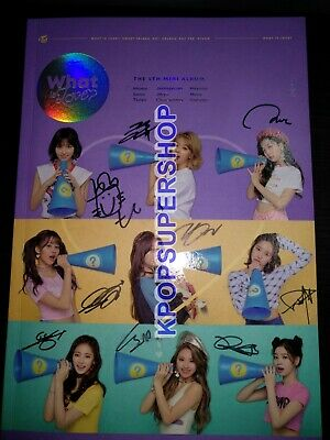 Twice 5th Mini Album What is Love? Autographed Signed Promo CD Photocard Cards 2