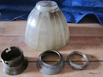 "Very Rare Spare parts for a  brass lamp used in a Vic Rail ""Red Rattler"" cariage"