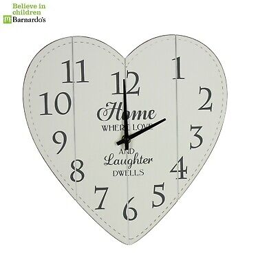 New shabby chic heart shaped  Wall clock - NV011