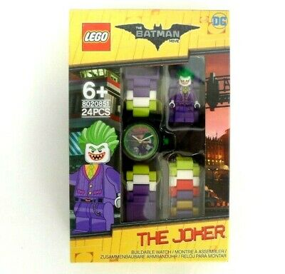 LEGO DC Batman the Movie JOKER WRIST WATCH - BUILDABLE - 24PC- Minifigure - BNIB