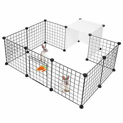 Metal Wire Yard Fence for Small Animals,14 Panels  Pet Dog Playpen, Small Animal