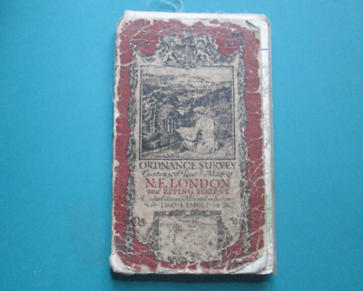 Ordnance Survey Contoured Road Map Of N.E London & Epping Forest, Number 107