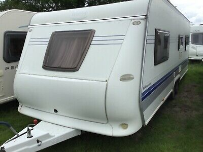 Hobby excelsior 2008 twin axle fixed bed caravan