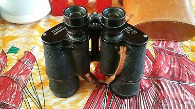 Zenith 10x50 Vintage Binoculars No 10187 with Original Leather Case