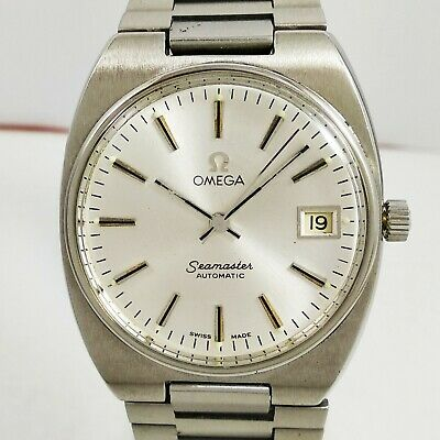 1973 Omega Seamaster Automatic Cal. 1010 Swiss Men All Steel Vintage Wrist Watch