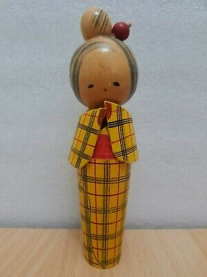 Japan Made Creative Female Kokeshi doll (18 cm)