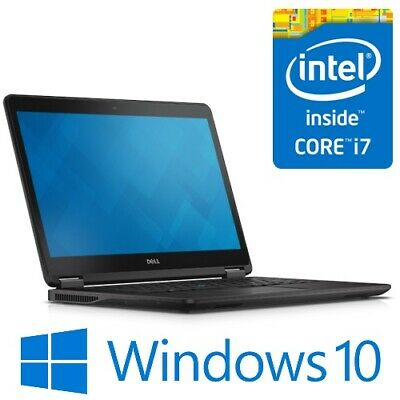"Dell Latitude E7450 Notebook Intel i7 5600U 8G 256G SSD WiFi 14"" FHD Win 10"