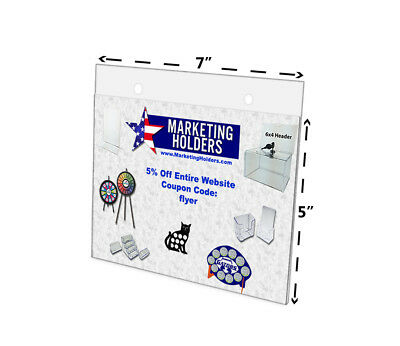 """7""""W x 5""""H Sign Holder Wall Mount Ad Frame with Mounting Holes Display Qty 6"""