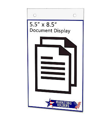 """Sign Holder Ad Frame 7""""W x 5""""H Wall Mount Display with Mounting Holes"""