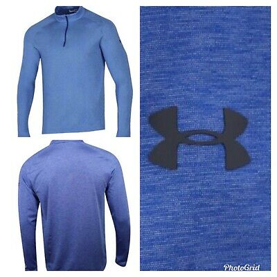 Under Armour 1/4 Zip Pullover Mens Golf Layering Top -Royal Blue- Choose Size