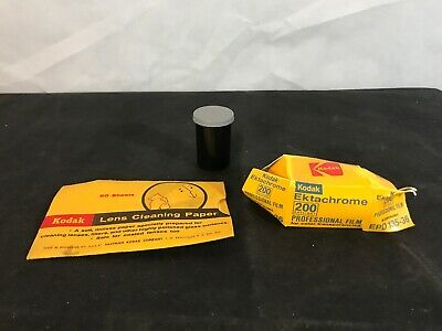 Vintage Kodak Lens Cleaning Paper & Ektachrome Film EPD 135-36