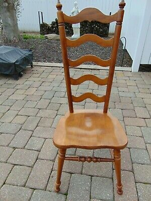 Tell City Furniture #8036 Andover Ladder Back Solid Bottom Chair   NICE