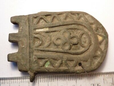 4352Ancient Late Medieval bronze buckle