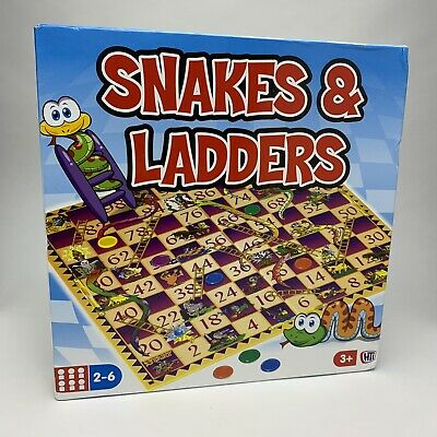 Snakes & Ladders - Classic Traditional Family Board Game Kids Childrens Toy New