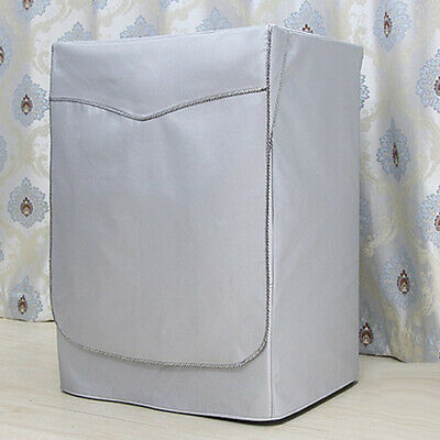 Washing Machine Cover Dust Proof Water Resistant Protector Silver Strap L