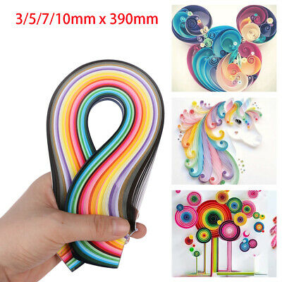 Colorful Craft Decro DIY Handmade Solid Color Origami Tool Quilling Paper