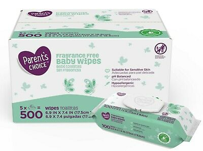 Parent's Choice Fragrance Free and Hypoallergenic Baby Wipes FREE SHIPPING