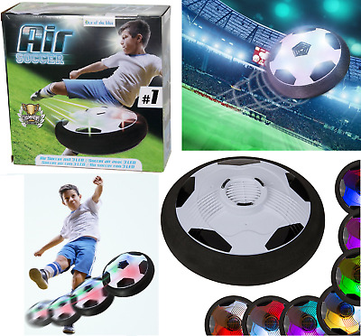 Indoor LED Air Soccer Kids Football Hover Ball Light Up Floating Disc Gift Toy