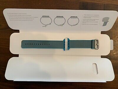 Genuine Apple Watch 42mm Woven Nylon Strap - Scuba Blue