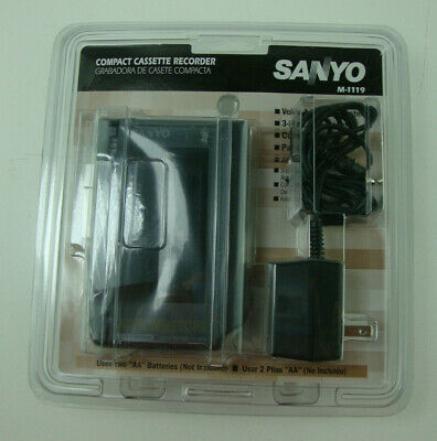 NEW SEALED Sanyo M1119 Handheld Std Cassette Voice Recorder FACTORY SEALED!
